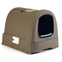 Curver Hooded Cat Litter Box 51x38.5x39.5 cm Mocca 400461