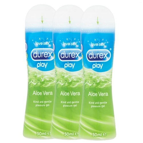 3 x Durex Play Lubricant Aloe Vera Pleasure Gel 50ml Water Soluble Lube