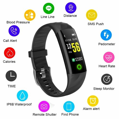 Fitness Tracker LIGE Waterproof Color Screen Smart Bracelet Heart Rate Blood Pressure Monitoring Sports Watch Calorie Burning Counter Sports...