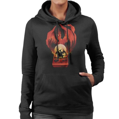 Pokemon Red Montage Women's Hooded Sweatshirt