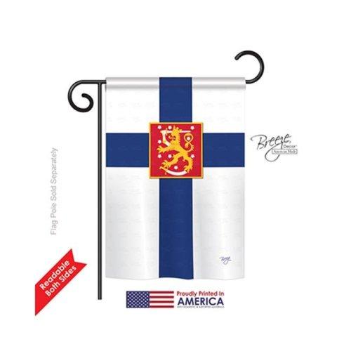 Breeze Decor 58103 Finland 2-Sided Impression Garden Flag - 13 x 18.5 in.