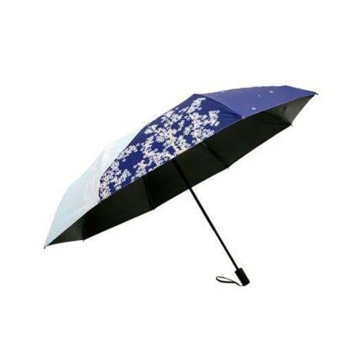 Japanese Style Sunscreen Sun And Rain Umbrella Folding Umbrella, Outside Flower
