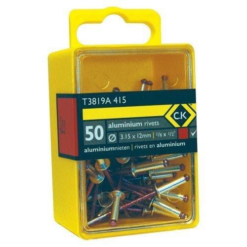 CK T3819A 515 Pop Rivets Aluminium 3.8x12mm Box Of 50