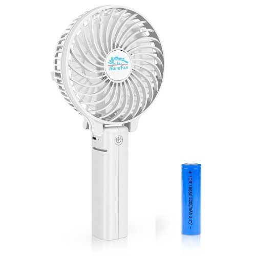 BestFire Portable Handheld Mini Fan Battery Operated Cooling Fan Electric Personal Fans Foldable Desktop Fans Quiet Operation 3 Speeds with 18650...
