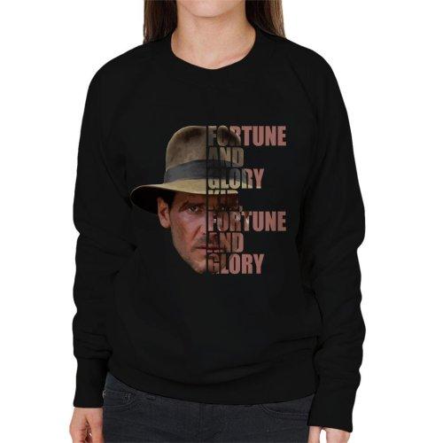 Indiana Jones Half Head Text Women's Sweatshirt
