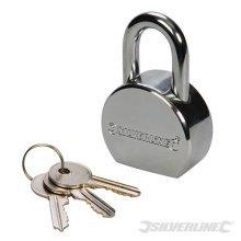 Silverline Round Steel Padlock 54mm - 236728 52mm -  round steel padlock silverline 54mm 236728 52mm
