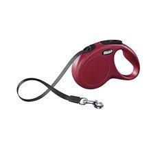 Flexi New Classic Retractable Lead Tape, Small, 5m, 15kg, Red - Tape Dog Small -  flexi tape classic lead retractable dog new small red 5m 15kg
