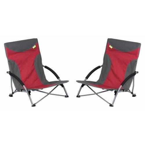 Kampa Sandy Low Chair - Red x 2