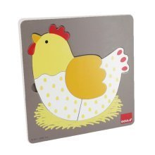 Goula 3 Levels Chicken Wooden Puzzle (6 Pieces)