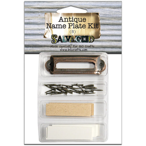 Antique Name Plate Kit 8/Pkg-