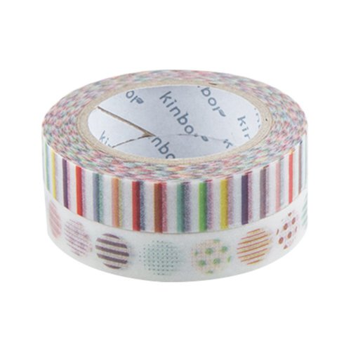 Decorative DIY Tape Washi Color Sticky Japanese Paper Masking Washi Tape Set of 2 Rolls