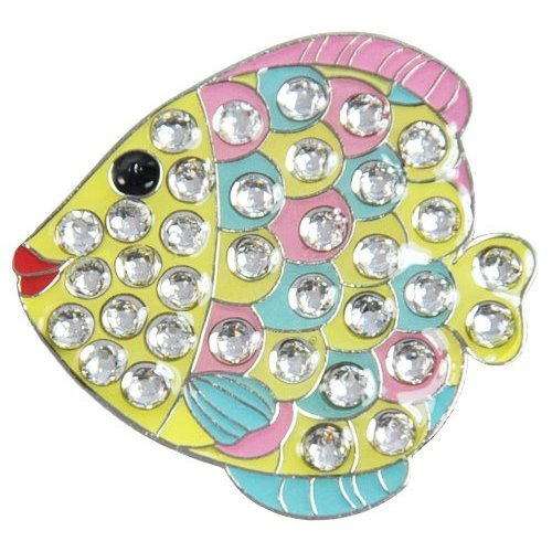 Navika Fishy Swarovski Crystal Ball Marker with Hat Clip