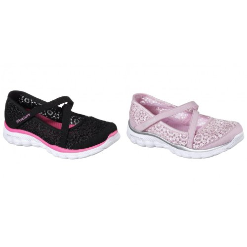 Skechers Childrens Girls Skech Flex 2.0 Comfy Crochetes Mary Jane Trainers