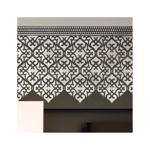 Karachi Wall Furniture Floor Stencil for Painting