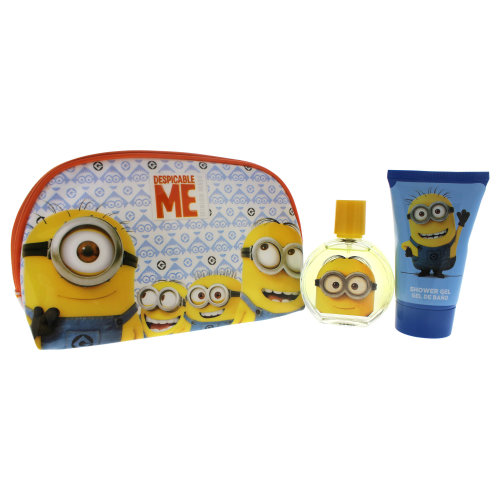 Minions Minions - 3 Pc Gift Set 1.7oz EDT Spray, 3.4oz Shower Gel, Toiletry Bag