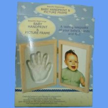 Baby Handprint And Picture Frame -  baby frame handprint picture photo plaster moulding keepsake gift casting kit