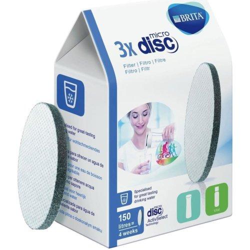 3x BRITA MicroDisc Replacement Active/Vital Water Bottle Filter Discs 150 Litres