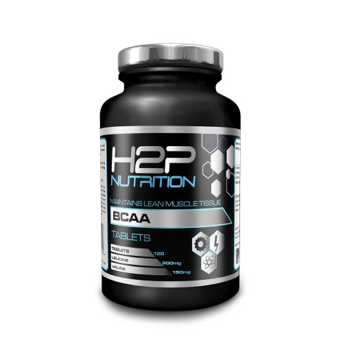 BCAAs by H2P Nutrition - Max Strength Tablets/Suitable for Both Men & Women / 120 Tablets per Container/High Dosage/Made in UK - 100% Money Back...