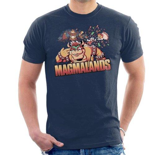 Bowser Magmalands Super Mario Men's T-Shirt