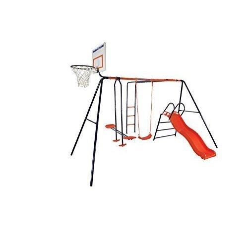 Hedstrom Atlas Swing, Glider, Slide, Monkey bars & basketball combination.