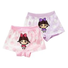 Set of 2, Kids Lovely Cartoon Underwear Girls' Comfortable Panties