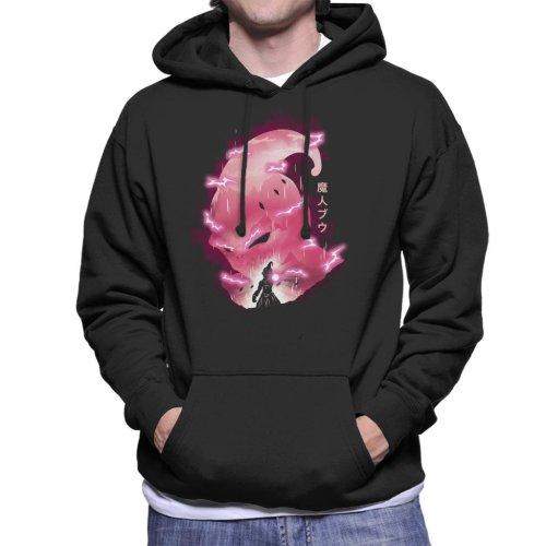 Kid Buu Silhouette Dragon Ball Z Men's Hooded Sweatshirt