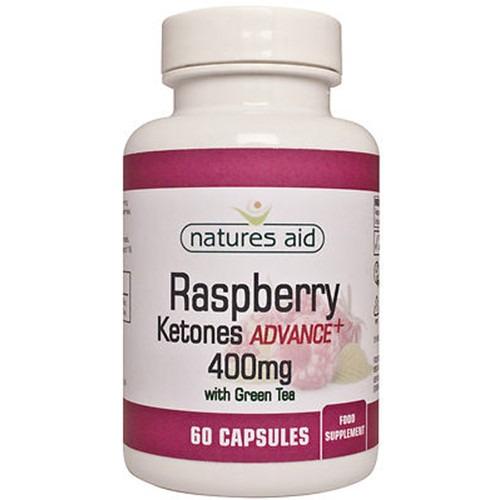 Natures Aid Raspberry Ketones Advance+ 400mg with Green Tea 60 Capsules