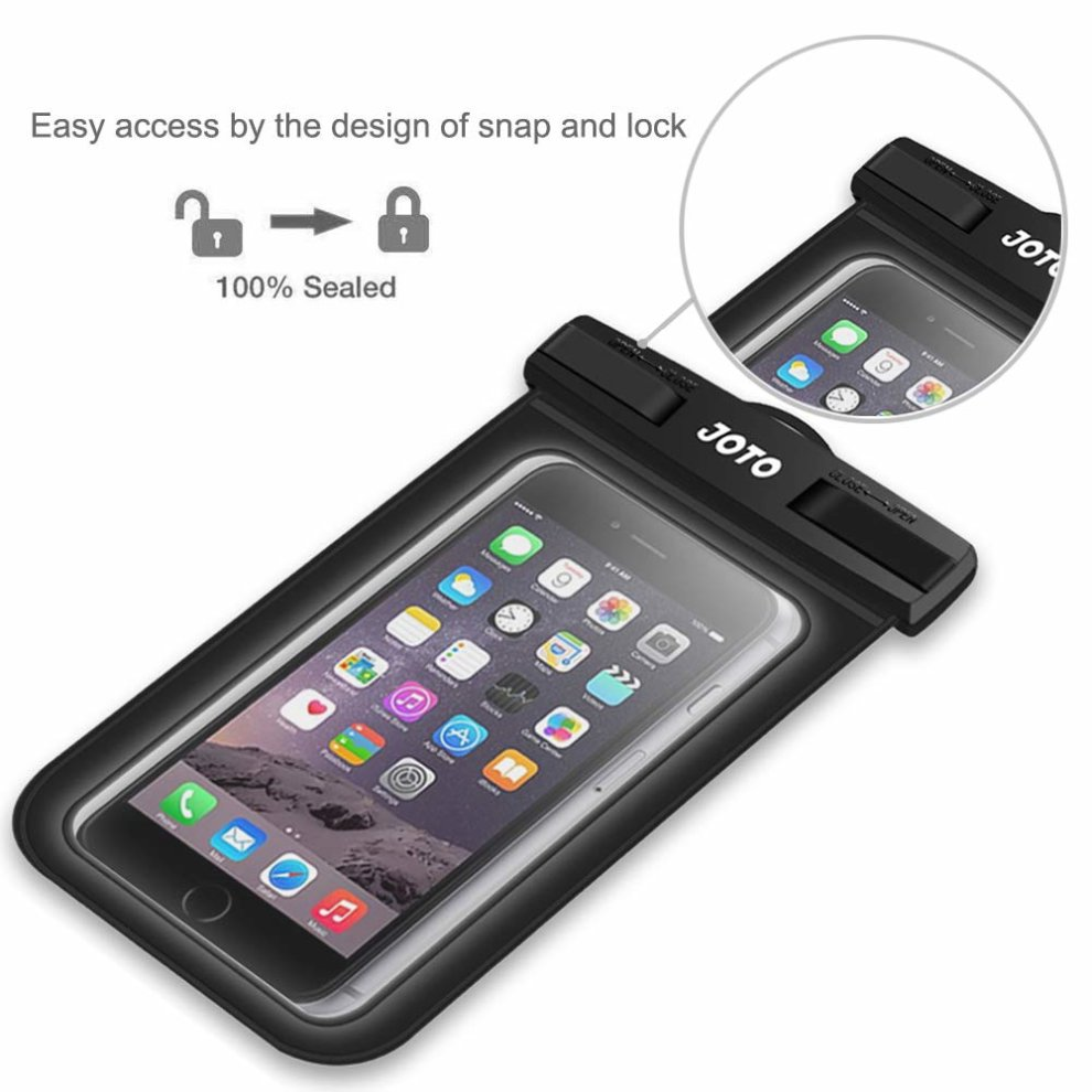 reputable site fb841 15c25 Universal Waterproof Case, JOTO Cellphone Dry Bag Pouch for iPhone Xs  Max/XR/X/8/7/7 Plus/6S Plus, Samsung Galaxy S9 Plus/ S8 Plus/Note 8 6 5  4,...