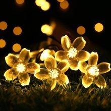 5M 50 LED Sakura Flower String Lights