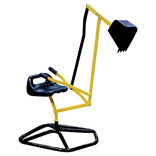 Ride On Crane Digger Mechanical Digging Metal Outdoor Toy Swing and Grab Function, Rotates 360