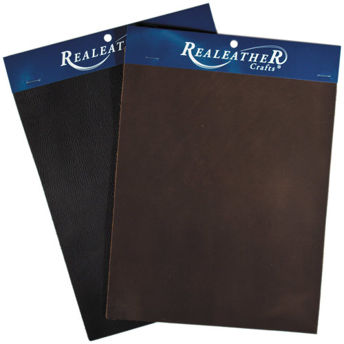 "Realeather Crafts Leather Triumph Trim Piece 8""X11""-Brown"