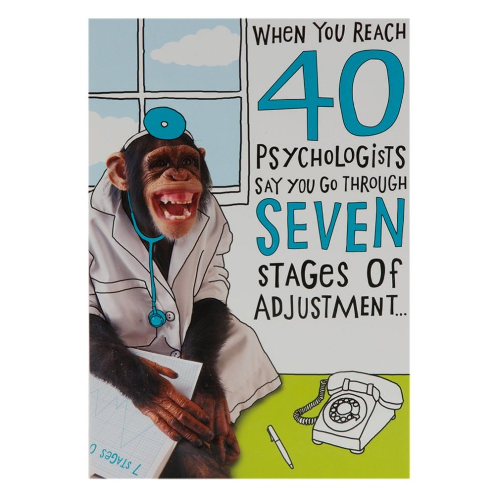Hallmark 40th Birthday Card For Him Funny Monkey