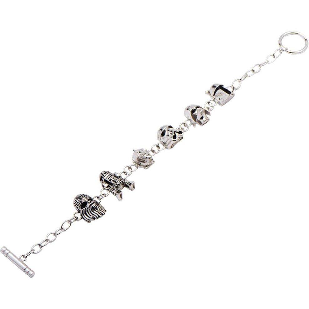 70f549b1a31d6 Star Wars Characters Sterling Silver Charm Bracelet
