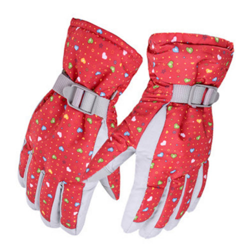1 Pair Outdoor Winter Cycling Cold-proof Gloves Waterproof Skiing Gloves Warm Gloves,L