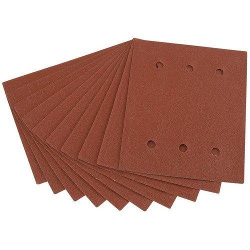 Draper 73526 Ten 115 x 145mm 120 Grit Aluminium Oxide Sanding Sheets