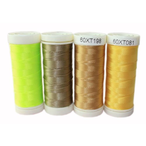 Set of 4  Assorted Spools of Strength Sewing Thread Leather Thread 300 Yard Each