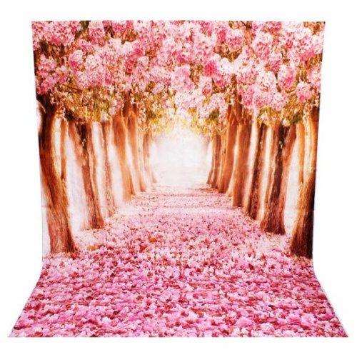 2 x 1.5m Beautiful Flower Street Studio Vinyl Photography Backdrop Photo Background