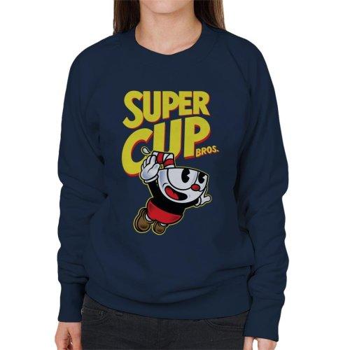 Super Cup Bros Super Mario Cuphead Women's Sweatshirt