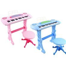 Children's Electronic Karaoke Piano Keyboard 37 Keys with Microphone, Stool and Lots of Sounds, Beats and Songs