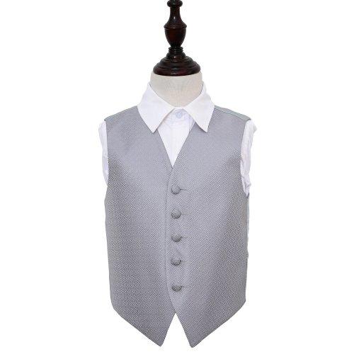 Silver Greek Key Wedding Waistcoat for Boys 26'