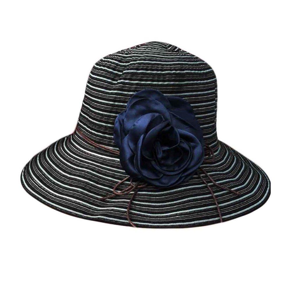 b98a7f15e7ccd Women s Summer Foldable Sun Hat Wide Brim Beach Hat Floppy Straw Hats ...