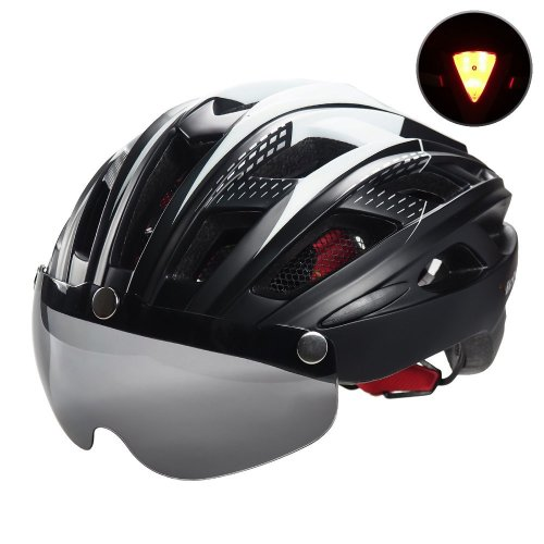 Victgoal Cycle Bike Helmet with Detachable Magnetic Goggles Visor Shield for Women Men, Cycling Mountain & Road Bicycle Helmets Adjustable Adult...