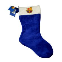 Barcelona Christmas Crest Stocking - Fc Supersoft Football Official Gift -  christmas stocking fc barcelona supersoft football official gift