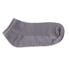 Women's Non Slip Yoga Socks Cotton  Pure Socks,Gray