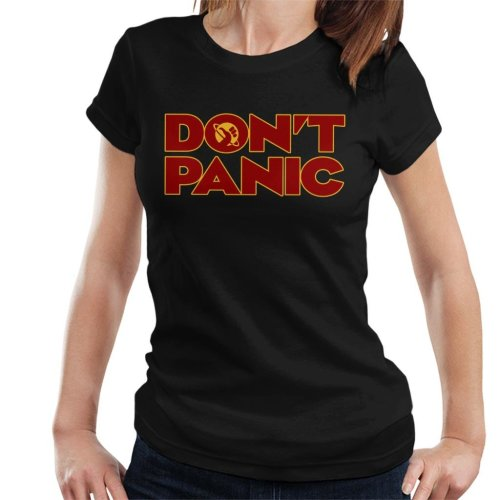Dont Panic Hitchhikers Guide To The Galaxy Women's T-Shirt