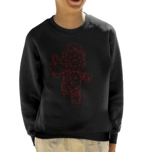 Lowpoly Super Mario Kid's Sweatshirt