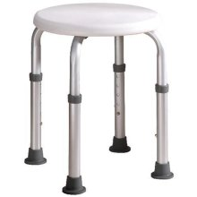 Round Shower Chair Lightweight Height Adjustable Shower Stool Aluminium
