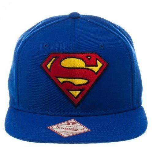 Superman Logo And Text Blue Snapback Hat - Cap Official Dc Comics Classic -  superman snapback cap official dc comics classic symbol blue brand new