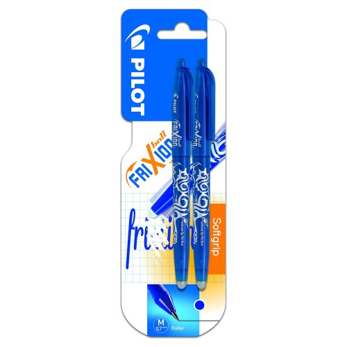 Pilot Frixion 0 7 mm Rollerball Pen - Blue (Pack of 2)
