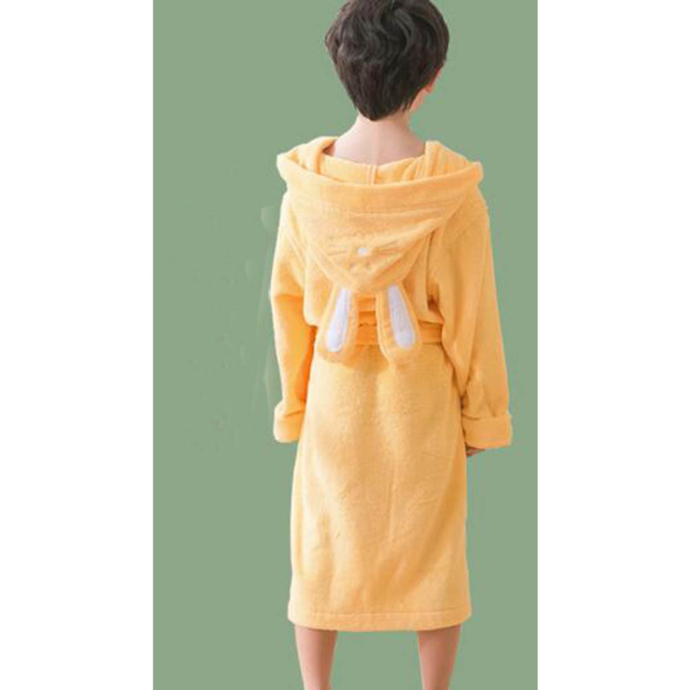 3506de3600 ... Children Cotton Bathrobe Soft Swim Bath Gown Robes Pajamas with Hat-A04  - 1.